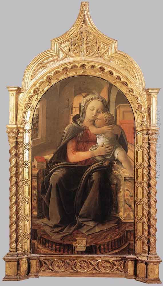 Madonna with Child (Tarquinia Madonna) painting - Fra Filippo Lippi Madonna with Child (Tarquinia Madonna) art painting