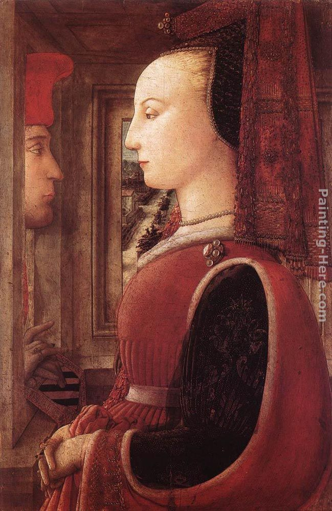 Portrait of a Man and a Woman painting - Fra Filippo Lippi Portrait of a Man and a Woman art painting