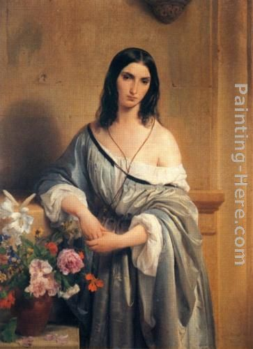 Francesco Hayez Malinconia Art Painting
