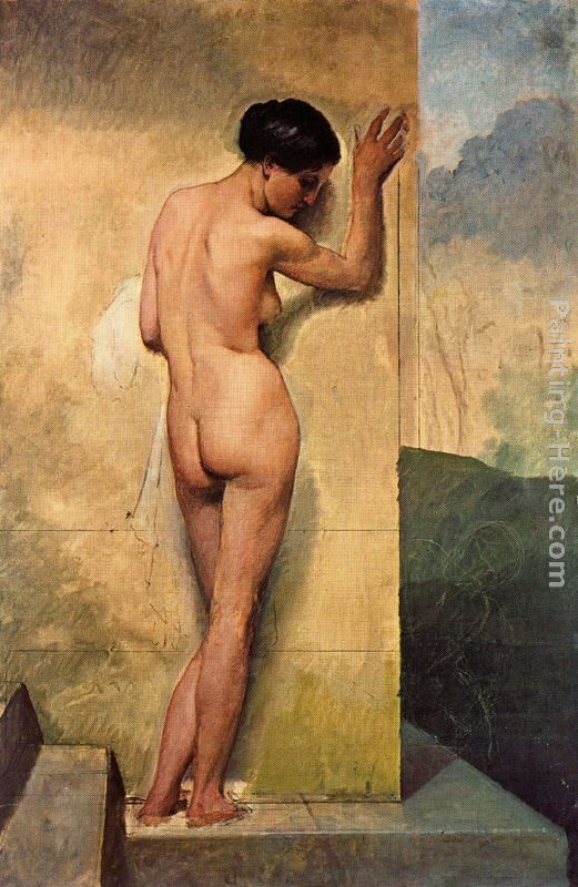 Francesco Hayez Nudo di donna stante Art Painting