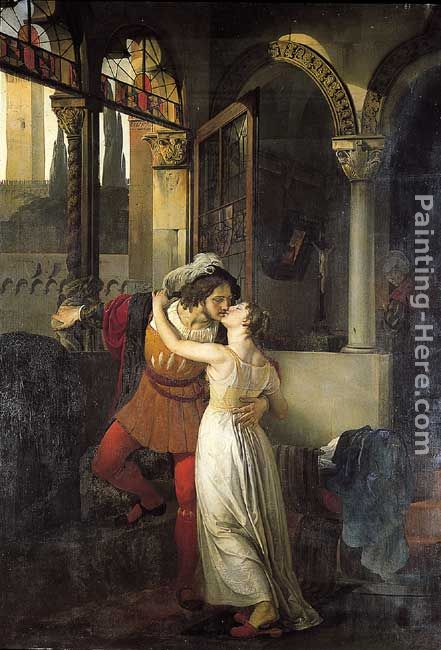 The Last Kiss of Romeo and Juliet painting - Francesco Hayez The Last Kiss of Romeo and Juliet art painting