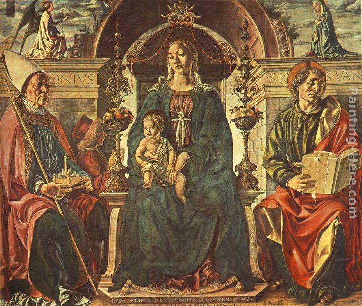 Madonna with the Child and Saints painting - Francesco del Cossa Madonna with the Child and Saints art painting