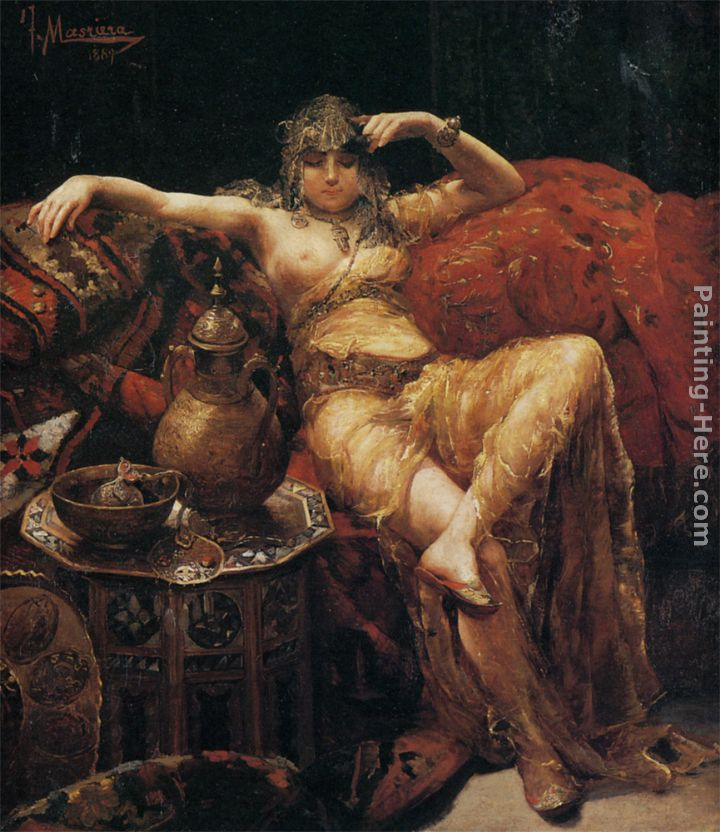 Francisco Masriera y Manovens An Odalisque Art Painting