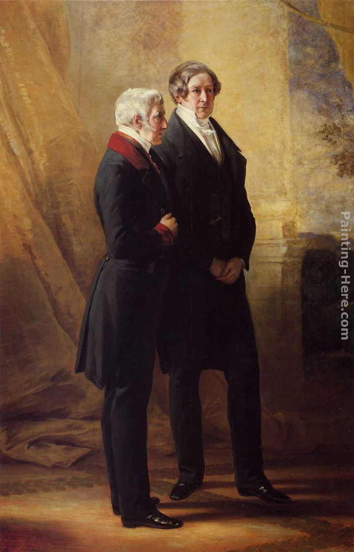 Arthur Wellesley, 1st Duke of Wellington with Sir Robert Peel painting - Franz Xavier Winterhalter Arthur Wellesley, 1st Duke of Wellington with Sir Robert Peel art painting
