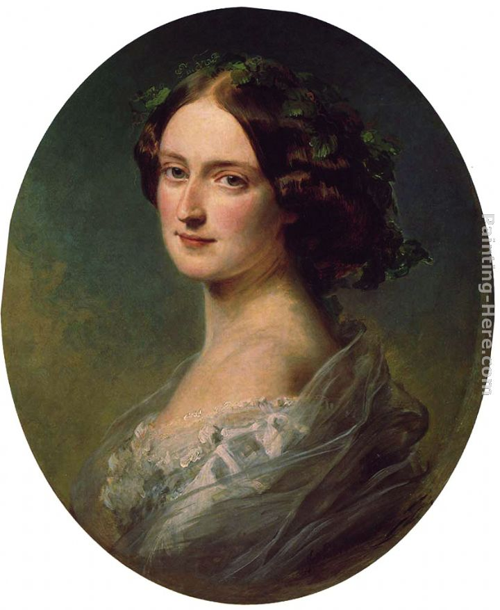 Lady Clementina Augusta Wellington Child-Villiers painting - Franz Xavier Winterhalter Lady Clementina Augusta Wellington Child-Villiers art painting