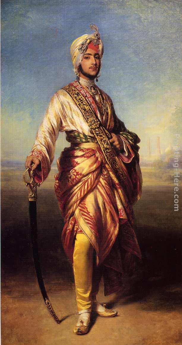 The Maharajah Duleep Singh painting - Franz Xavier Winterhalter The Maharajah Duleep Singh art painting