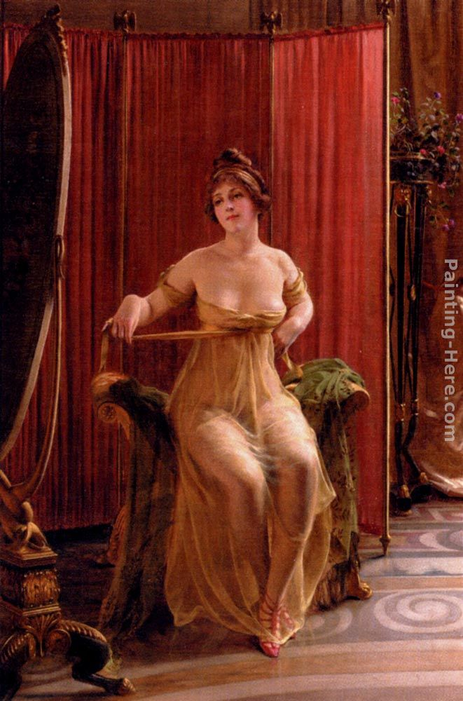 In The Dressing Room painting - Frederic Soulacroix In The Dressing Room art painting