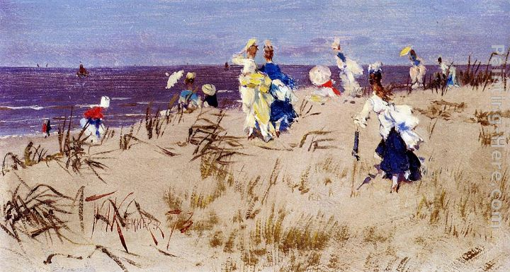Elegant Women On The Beach painting - Frederick Hendrik Kaemmerer Elegant Women On The Beach art painting