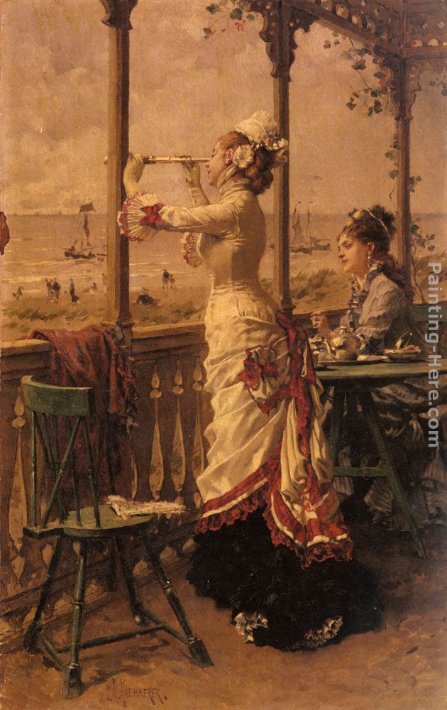 On The Lookout painting - Frederick Hendrik Kaemmerer On The Lookout art painting