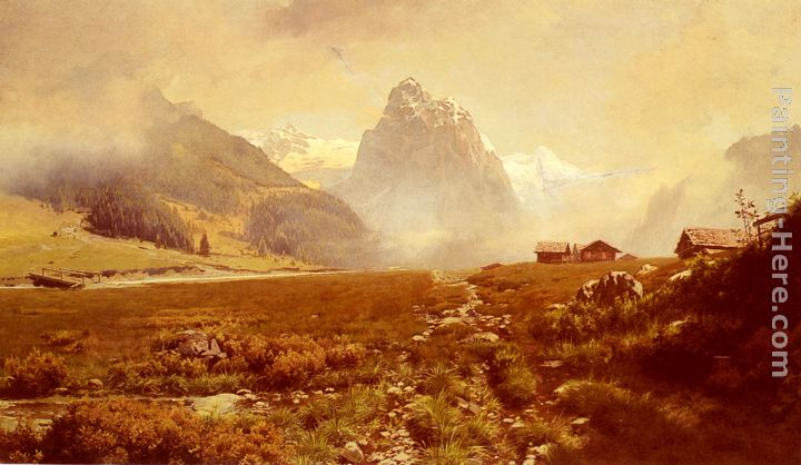 The Swiss Alps painting - Frederick Judd Waugh The Swiss Alps art painting
