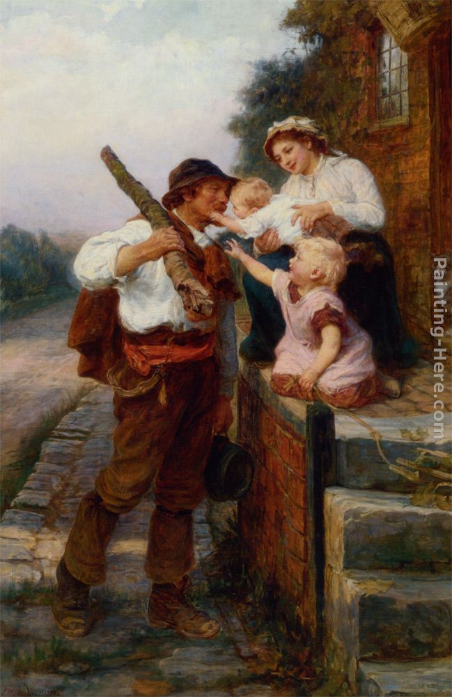 A Fathers Return painting - Frederick Morgan A Fathers Return art painting