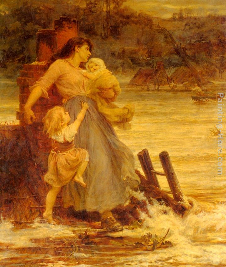 A Flood painting - Frederick Morgan A Flood art painting