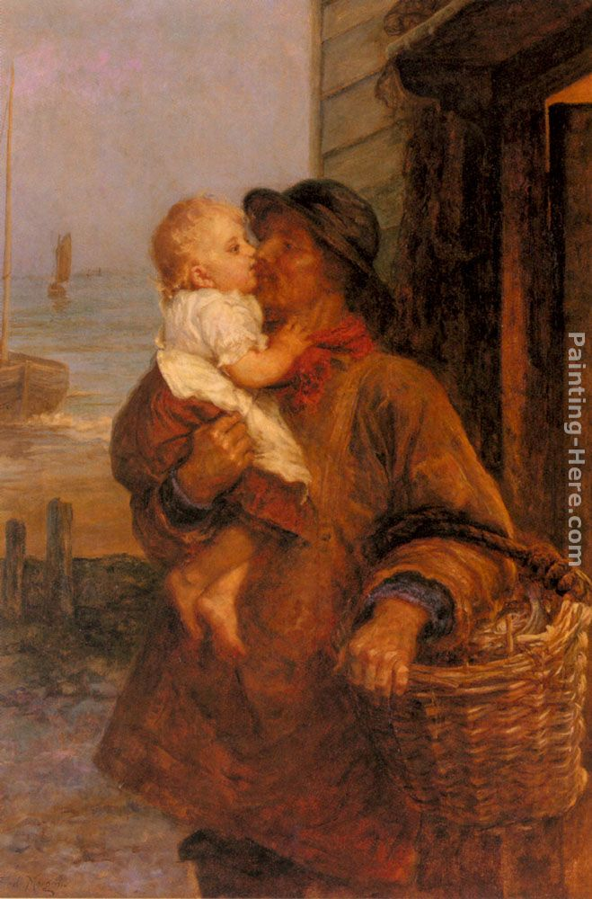 A Welcome For Daddy painting - Frederick Morgan A Welcome For Daddy art painting