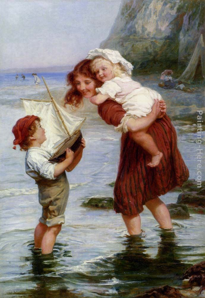 At Scarborough painting - Frederick Morgan At Scarborough art painting