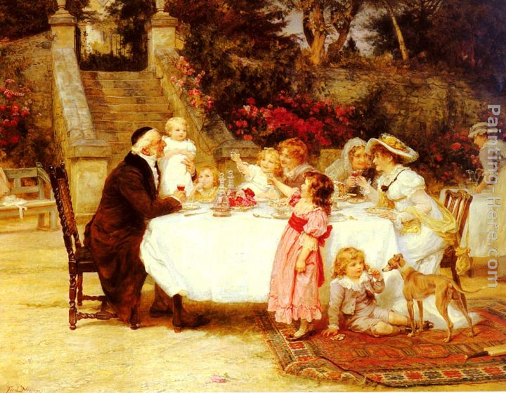 His First Birthday painting - Frederick Morgan His First Birthday art painting