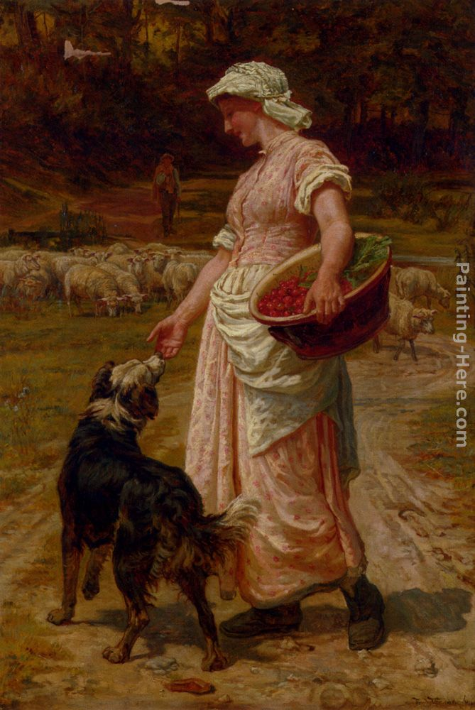 Love Me, Love My Dog painting - Frederick Morgan Love Me, Love My Dog art painting