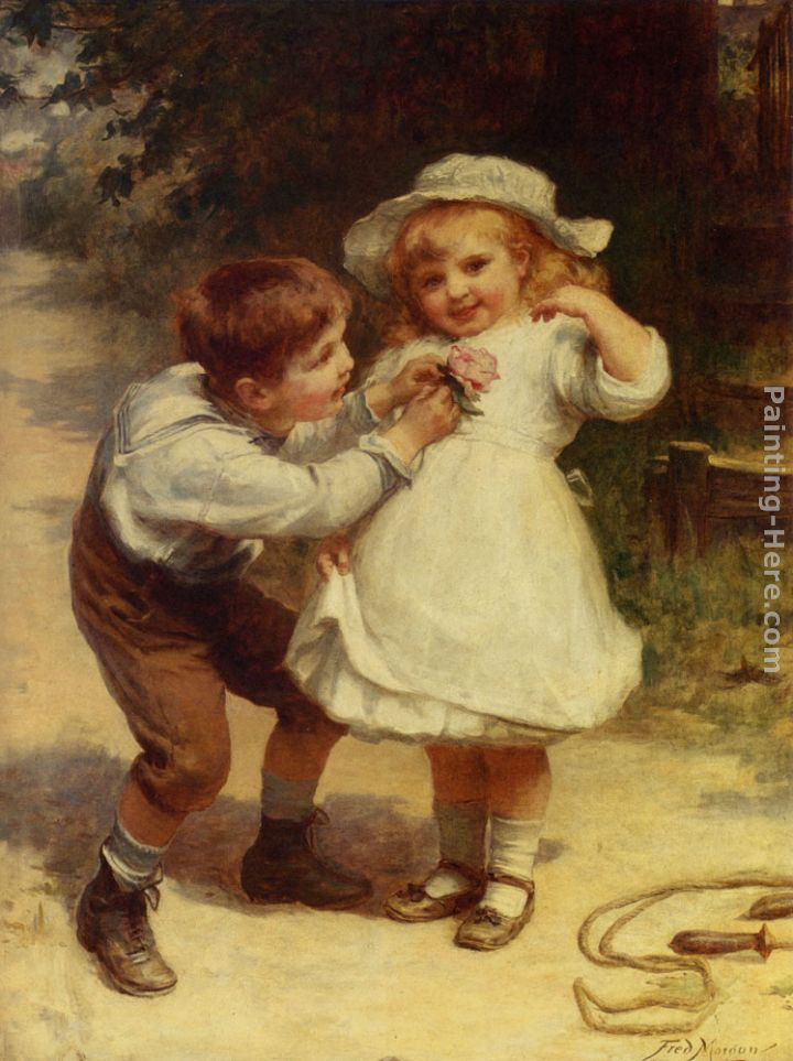 Sweethearts painting - Frederick Morgan Sweethearts art painting