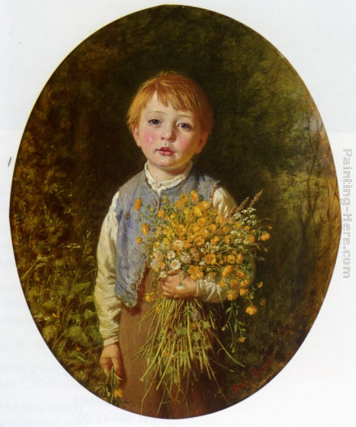 The Flower Gatherer painting - Frederick Morgan The Flower Gatherer art painting