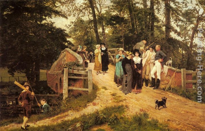 The School Belles painting - Frederick Morgan The School Belles art painting