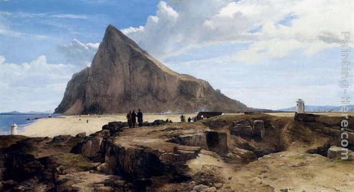 The Rock Of Gibraltar painting - Frederick Richard Lee R.A The Rock Of Gibraltar art painting
