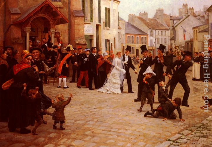 Gabriel Charles Deneux The Wedding painting anysize 50% off - The Wedding painting for sale