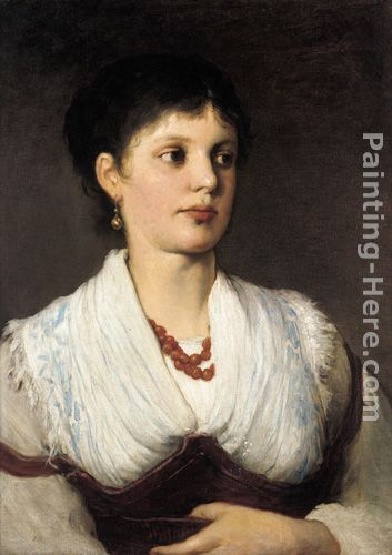 Gabriel Cornelius Ritter von Max A portrait of a woman in native costume Art Painting
