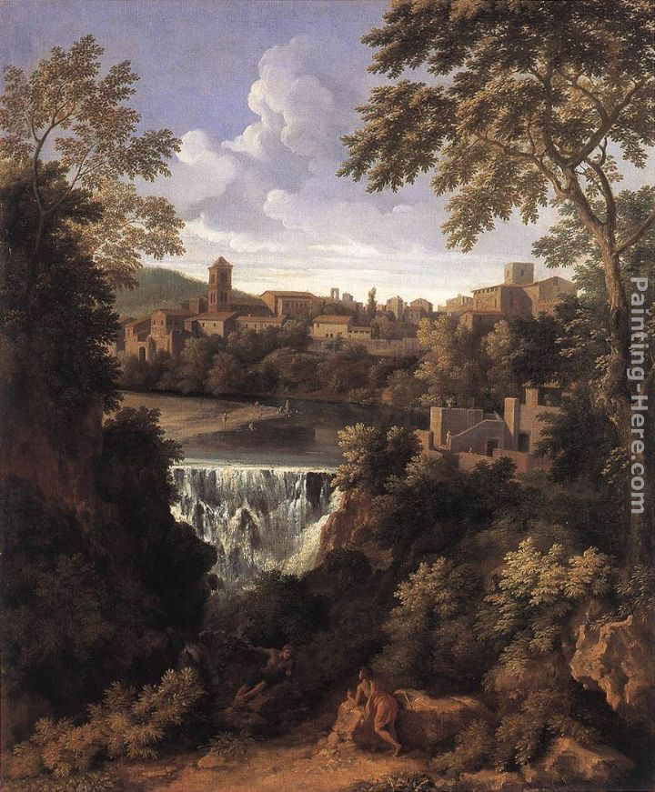 The Falls of Tivoli painting - Gaspard Dughet The Falls of Tivoli art painting