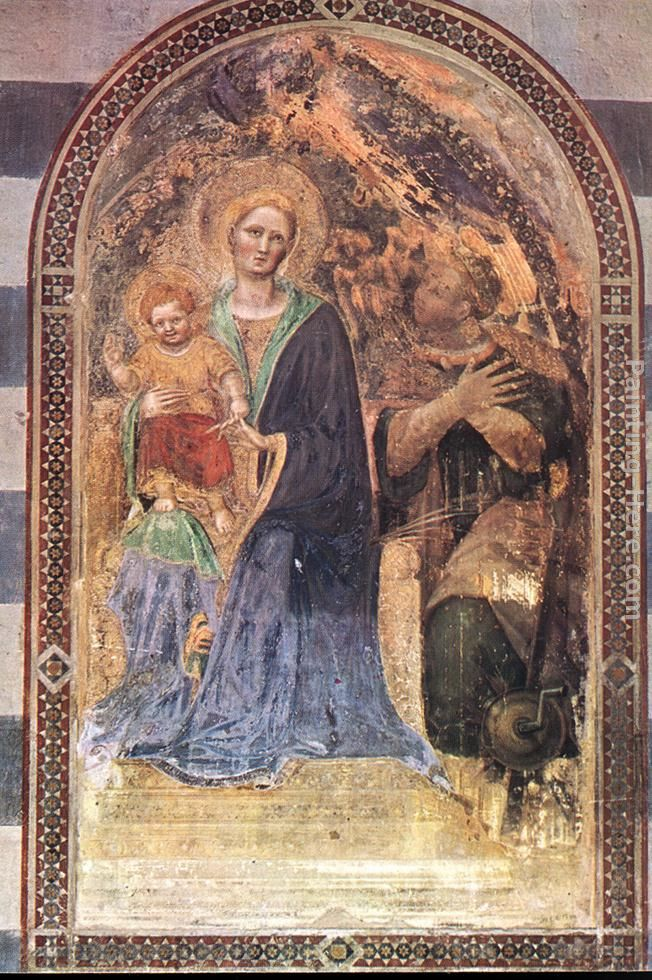 Madonna with the Child painting - Gentile da Fabriano Madonna with the Child art painting