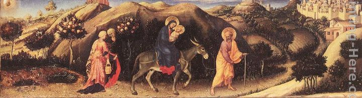 Rest during the Flight into Egypt painting - Gentile da Fabriano Rest during the Flight into Egypt art painting