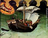 Quaratesi Altarpiece St. Nicholas saves a storm-tossed ship