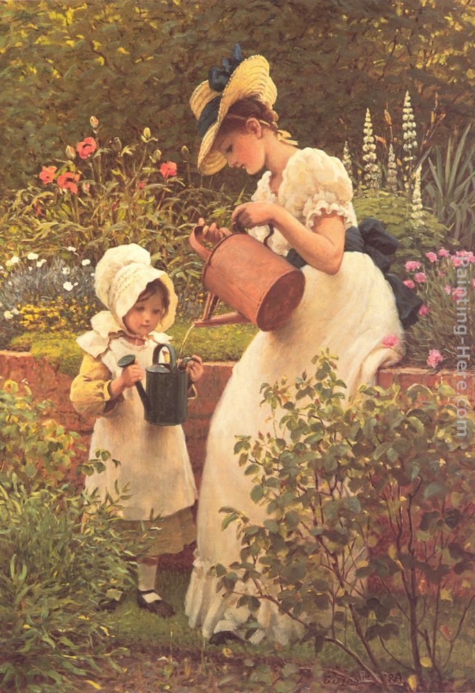 the young gardener painting george dunlop ra leslie the young gardener art painting