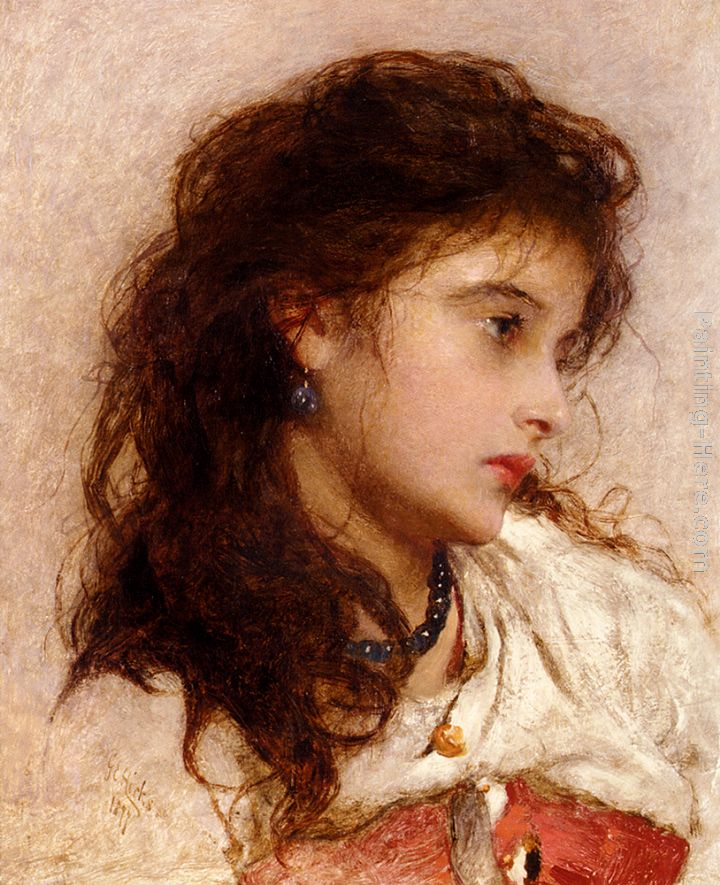 A Gypsy Girl painting - George Elgar Hicks A Gypsy Girl art painting