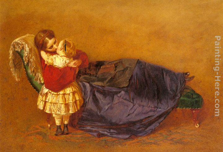Mother and Child painting - George Elgar Hicks Mother and Child art painting