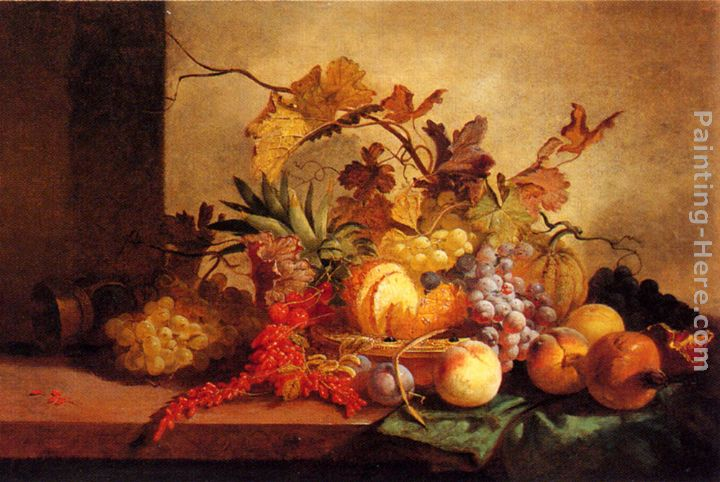 An Exotic Still Life painting - George Lance An Exotic Still Life art painting