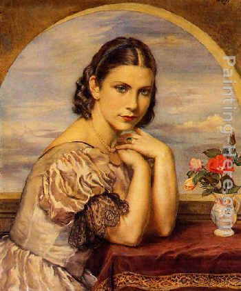Enriqueta painting - George Owen Wynne Apperley Enriqueta art painting
