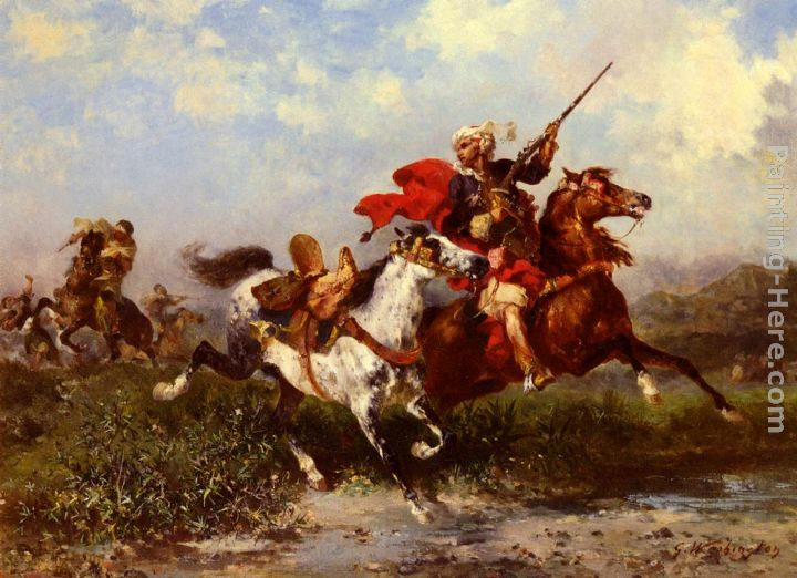 Combats De Cavaliers Arabes painting - Georges Washington Combats De Cavaliers Arabes art painting