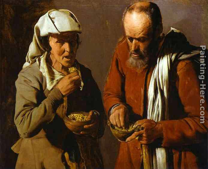 Georges de La Tour The Porridge Eaters Art Painting