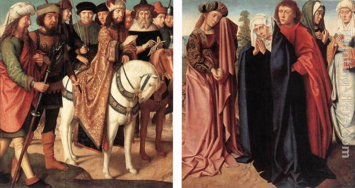Gerard David Pilate's Dispute with the High Priest; The Holy Women and St John at Golgotha Art Painting