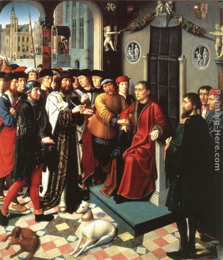 The Judgment of Cambyses (left panel) painting - Gerard David The Judgment of Cambyses (left panel) art painting