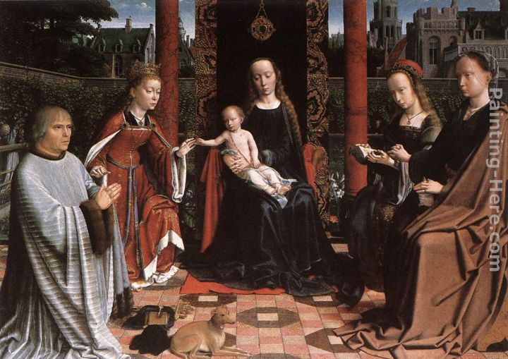 Gerard David The Mystic Marriage of St Catherine Art Painting