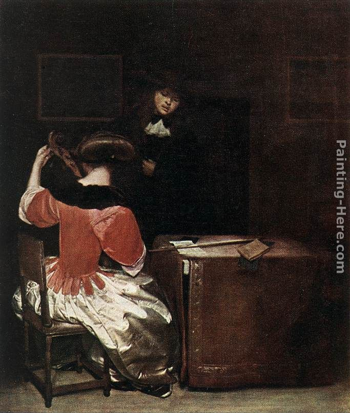 The Music Lesson painting - Gerard ter Borch The Music Lesson art painting