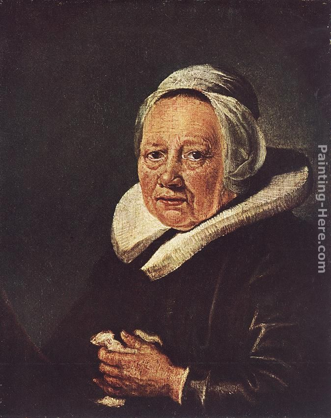portrait woman painting. Portrait of an Old Woman
