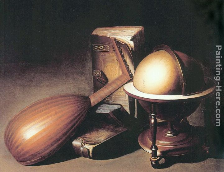 Still Life with Globe, Lute, and Books