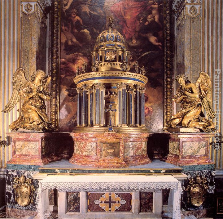 Altar of the Cappella del Sacramento painting - Gian Lorenzo Bernini Altar of the Cappella del Sacramento art painting