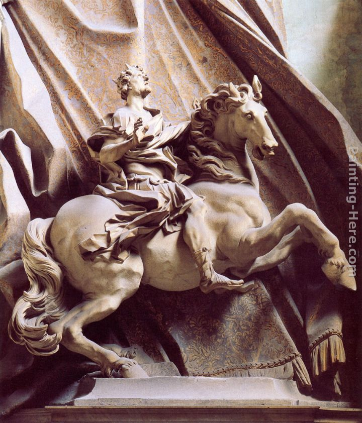 Constantine the Great painting - Gian Lorenzo Bernini Constantine the Great art painting