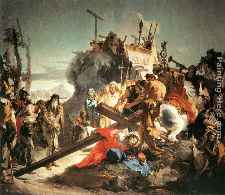 Giovanni Battista Tiepolo Christ Carrying the Cross Art Painting