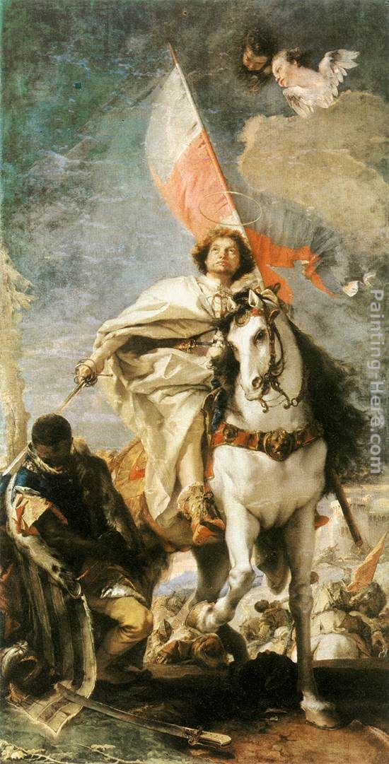 Giovanni Battista Tiepolo St James the Greater Conquering the Moors Art Painting