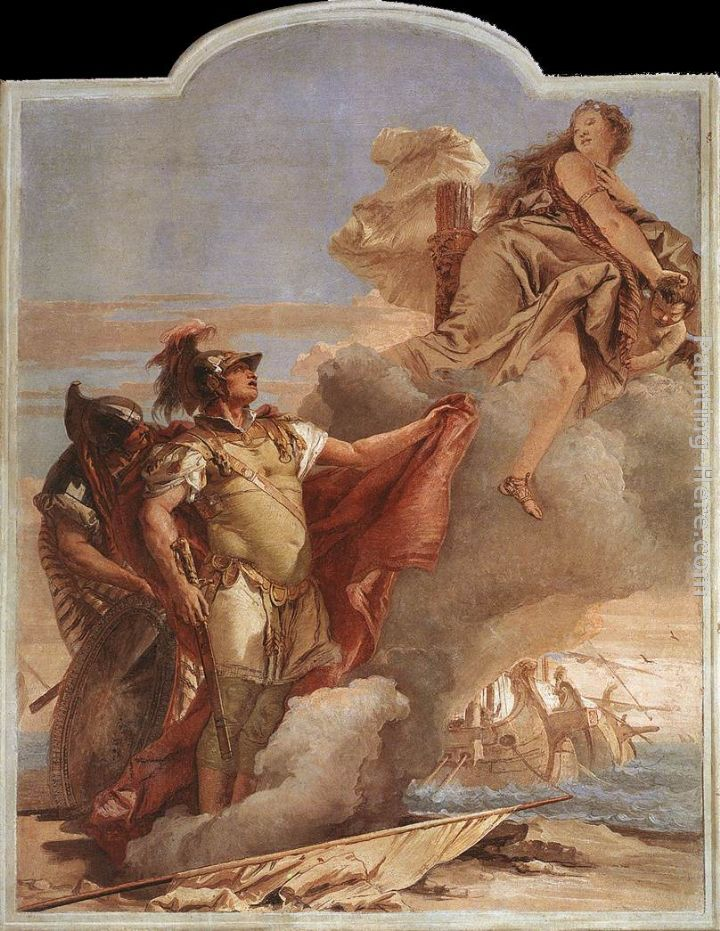 Giovanni Battista Tiepolo Venus Appearing to Aeneas on the Shores of Carthage Art Painting