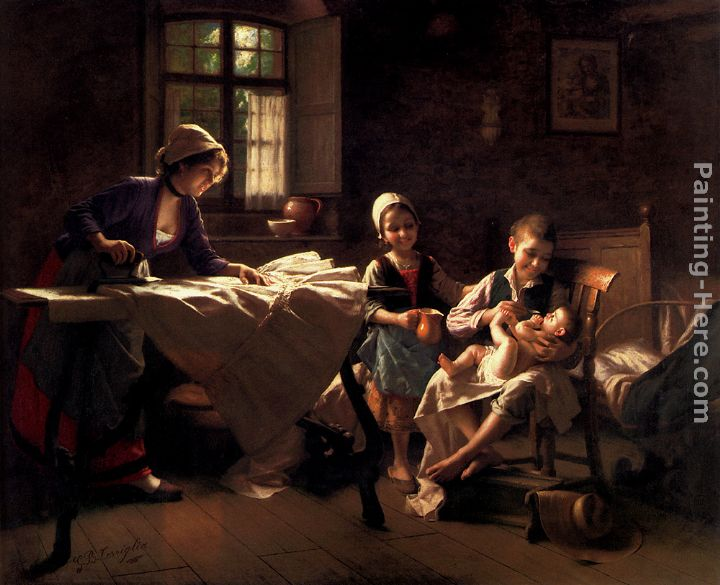 A Happy Family painting - Giovanni Battista Torriglia A Happy Family art painting