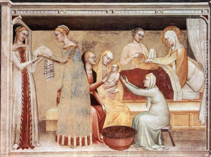 The Birth of the Virgin painting - Giovanni da Milano The Birth of the Virgin art painting